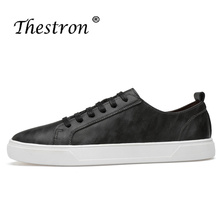 Thestron Cheap Shoes Men Leather Casaul Shoes Male Footwear Sneakers 2018 New Red Black White Man Walking Comfortable Lace Up