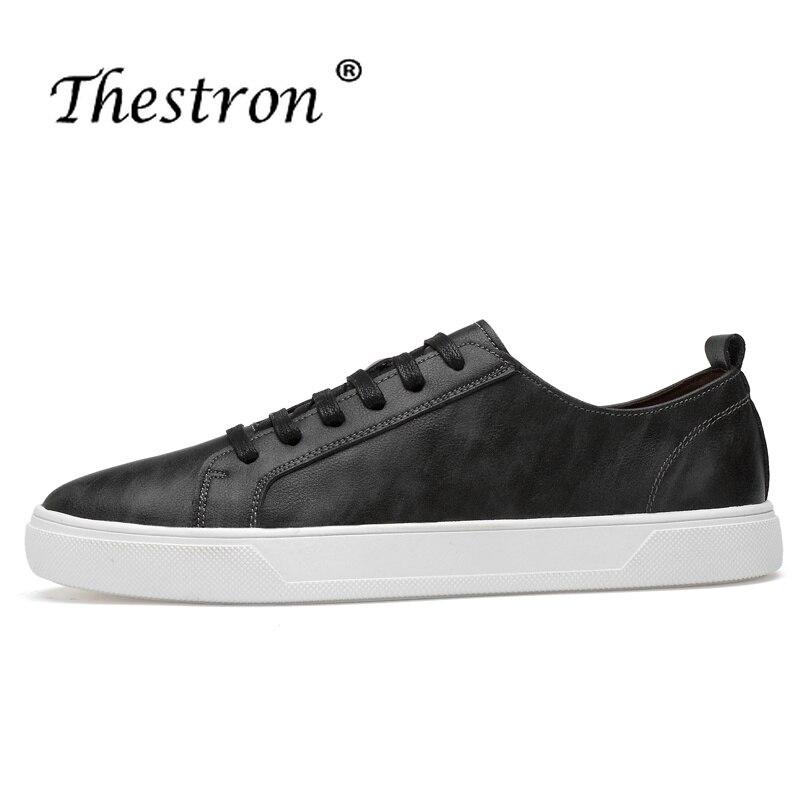 abcd92c0f0c8 Casaul Hommes Chaussures Cher Homme Marche Hei Blanc Up Noir Se Confortable  Dentelle Nouveau jun Sneakers Lv Thestron ...