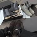 Marca de lujo Zapatos de Vestido de Partido de baile Hip-Hop Kanye Moda personalidad Botas Chelsea Entrenadores Cuero Genuino Botas Del Oeste