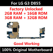 For LG G3 D855 16GB Original Motherboard Factory Unlocked Mainboard With Full Chips Android OS System Logic Board(China)