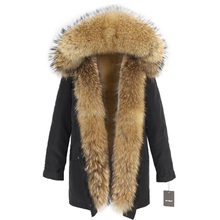 OFTBUY Waterproof Long Parka Winter Jacket Women Real Fur Coat Big Natural Raccoon Fur Hood Streetwear Detachable Outerwear New