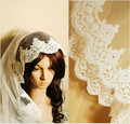 2016 New One Layer Lace Appliqued Wedding Veil With Crystal Veu De Noiva 3 M Long Bride Veil Wedding Accessories Voile Mariage