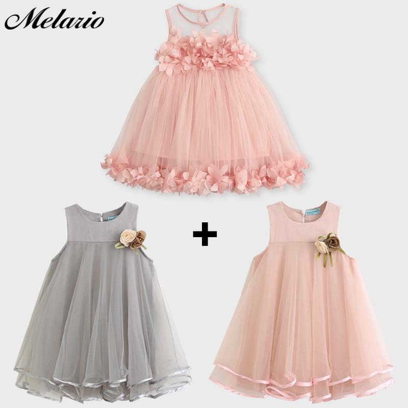 Melario Girls Dresses 2019 Söt Prinsessans Klänning Barn Barn - Barnkläder - Foto 6