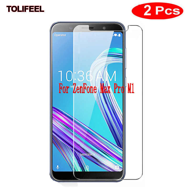 "2Pcs 9H Tempered Glass For ASUS ZenFone Max Pro M1 ZB601KL ZB602KL 6"" Screen Protector Protective Film Phone Shield"