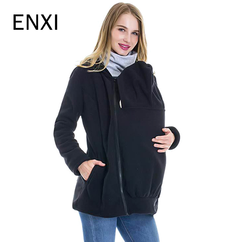 Fashion 2018 Winter Autumn Baby Carrier Jacket Kangaroo Warm Maternity Hoodies Outerwear Coat Maternity Clothes Plus Size M-3XL caranfier 2016 winter jacket men fashion design brand parka men clothing zipper coat male with pockets plus size m 3xl