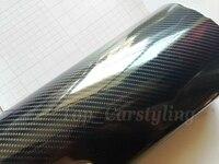 4 рулона/лот 5D углеродного волокна винил как настоящее глянцевое углеродное волокно воздушный пузырьковый автомобиль обертывание 1,52x20 м/ру