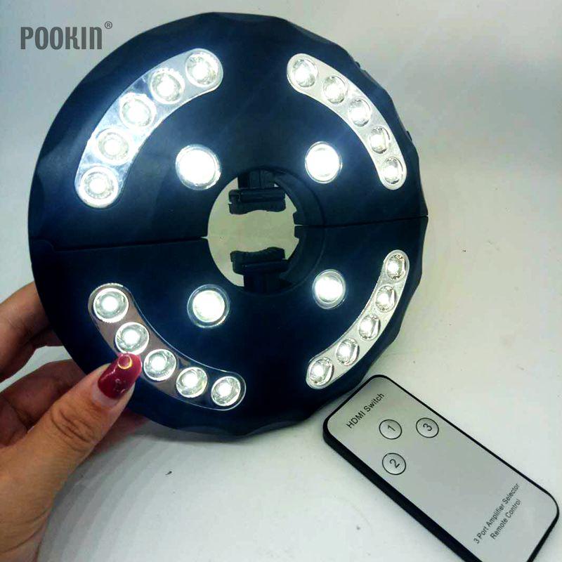Супер яркий 24 светодиодный Ночные огни с крюк дистанционного Управление работает Полюс лампы для зонтов Кемпинг сад наружного освещения ла…