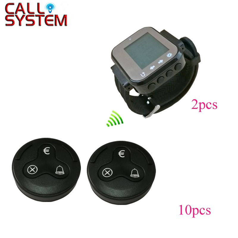 Ycall Guest Pager Service Device Restaurant table order system 2 watch clock 10 bell euro button