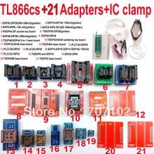D'origine TL866CS Universel minipro programmeur + 21 adaptateurs + IC clip Haute vitesse TL866 AVR PIC Bios 51 MCU Flash EPROM Programmeur