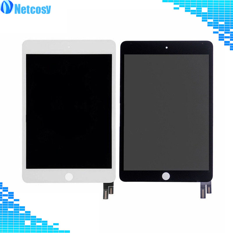For ipad mini 4 LCD Screen High quality Black / White LCD display+Touch screen digitizer assembly For ipad mini 4 A1538 A1550 best aaa quality for iphone 5 5c 5s lcd touch screen digitizer full set assembly white and black color with fast shipping
