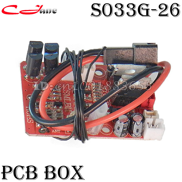 цена на Free shipping Wholesale/SYMA S033G spare parts PCB box S033G-26 for S033G RC Helicopter from origin factory