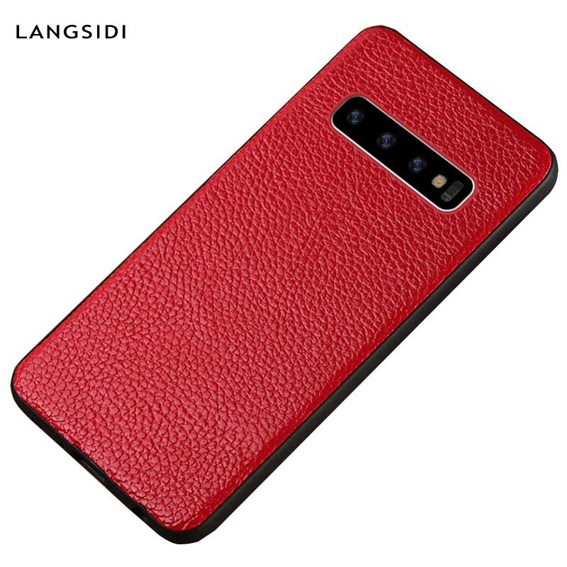 Genuine leather Phone <font><b>case</b></font> for <font><b>samsung</b></font> <font><b>Galaxy</b></font> <font><b>s10</b></font> S20 Ultra S7 S8 S9 Plus A70 A50 A51 A8 A7 2018 Note 10 9 <font><b>360</b></font> Full protective image