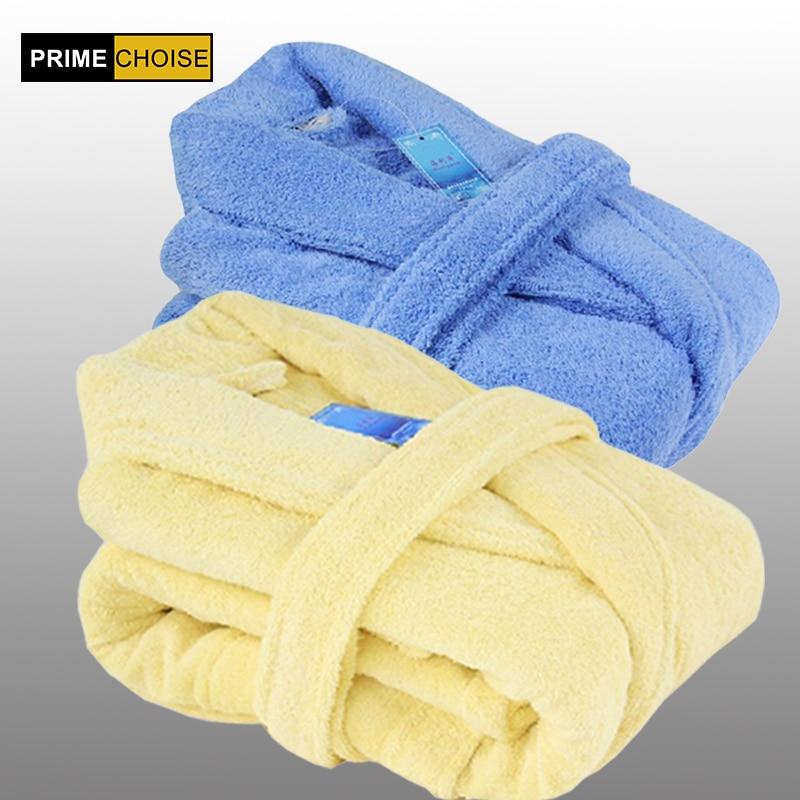 gratis forsendelse 100% bomuldskåbe kvindelig fortykkelse 100% bomuld badekåber mandlige kvinders elskere badekåbe
