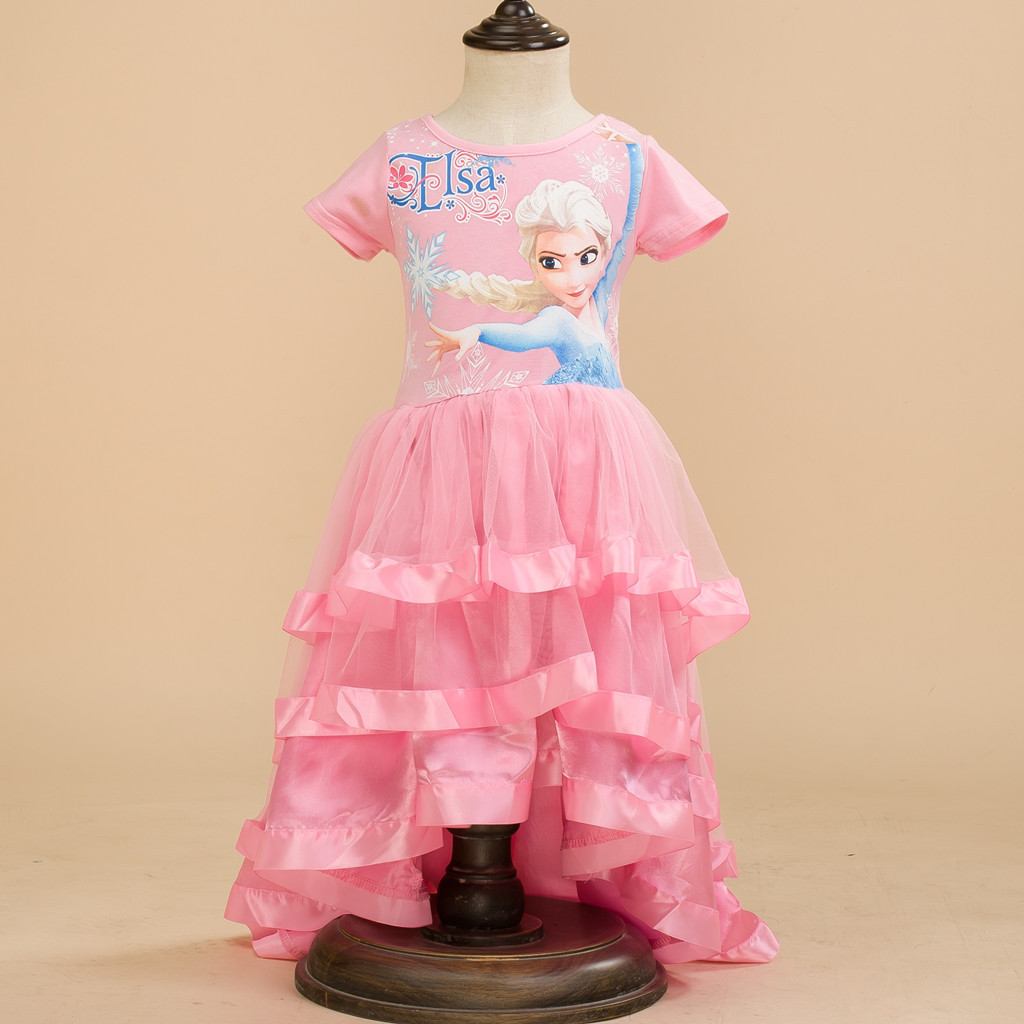 Kids Princess Costumes Tulle Party Toddler Girl Children Formal Clothes 2 3 4 5 6 Year Birthday Dress for Girls Birthday Outfits