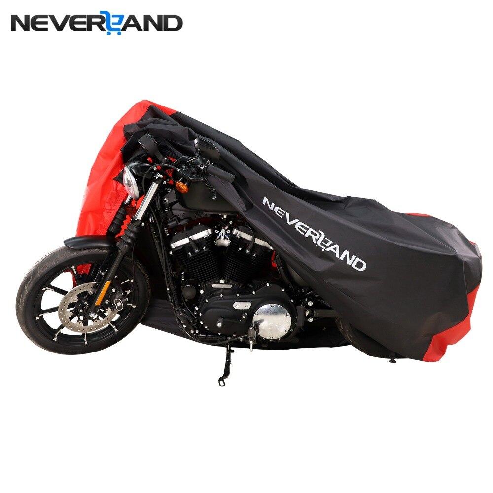 M L XL 2XL 3XL Moto Couvre En Plein Air Intérieur Scooter Pluie UV Poussière Housse De Protection pour Harley Honda suzuki Serrure -trous