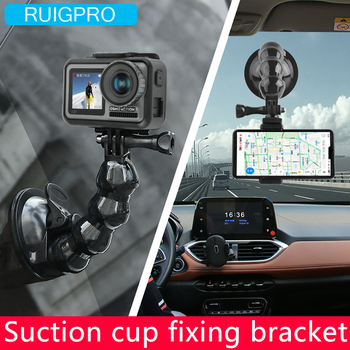 2019 New Accessories Car Suction Cup Adapter Window Glass Mount For DJI OSMO action camera Gopro Hero 8 7 6 5 Black for dji osmo mobile 2 handheld gimbal adapter osmo mobile 1 mount holder action camera bracket 3d print for gopro hero 6 5 4 3