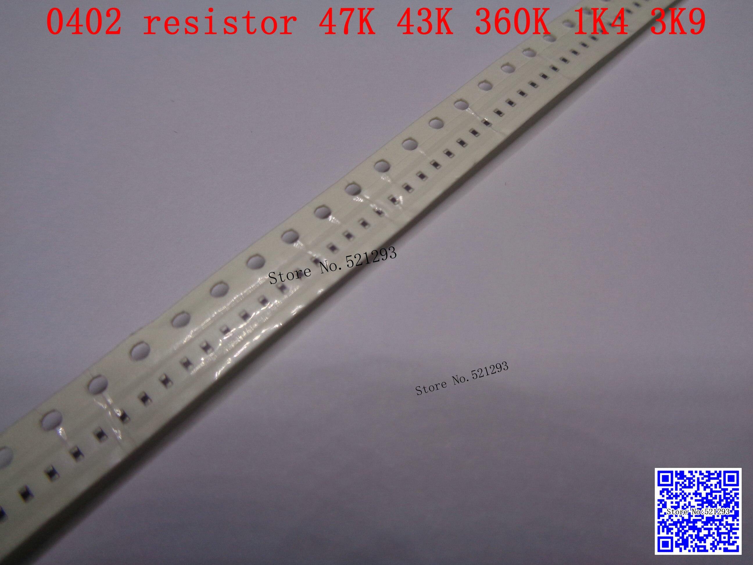 0402 F SMD resistor 1 16W 47K 43K 360K 1 4K 3 9K ohm 1 1005