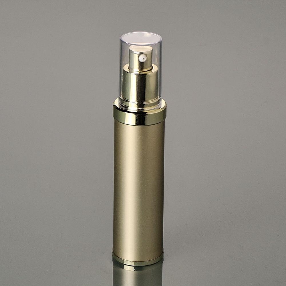 50ML GOLD műanyag légtelenítő palack légmentes szivattyúval, - Bőrápolási eszközök