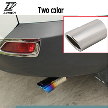 ZD 1PCS For Toyota Rav4 Rav 4 Accessories 2013 2014 Automobiles Car Exhaust Tip Muffler Pipe Cover 2Color Stainless steel Chrome