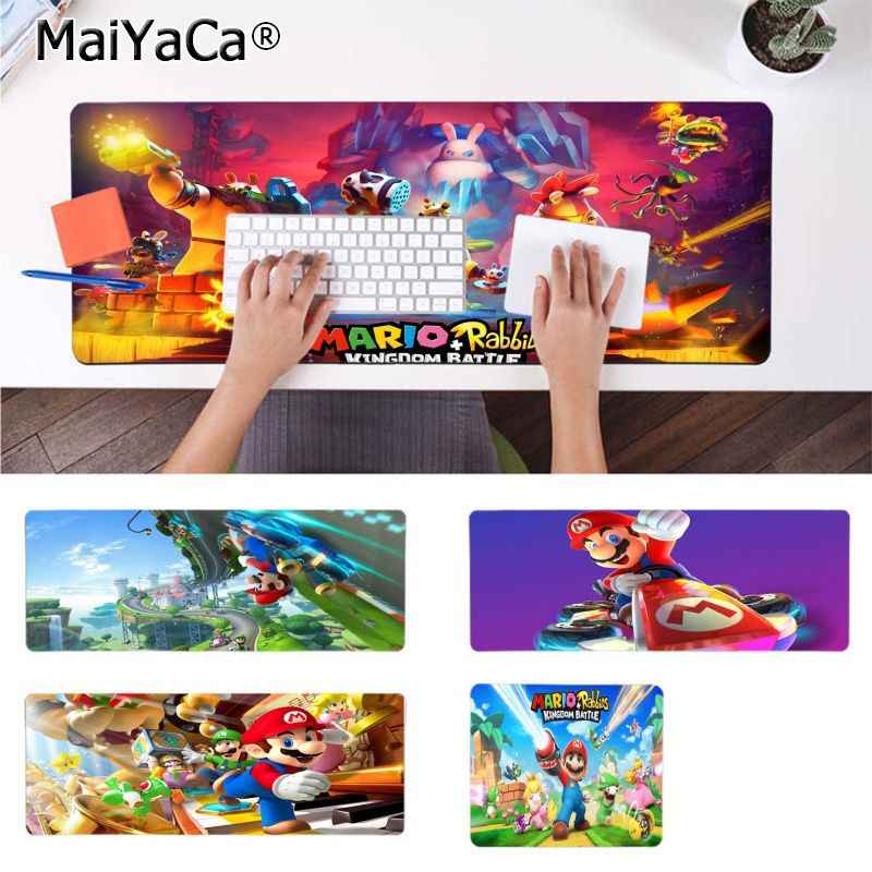 MaiYaCa  Mario Wallpaper mouse pad gamer play mats Comfort Mouse Mat Gaming Mousepad
