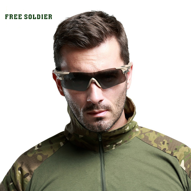 FREE SOLDIER Cycling Eyewear sport sunglasses men sports eyewear Racing tactical goggles Polarized light bulletproof glasses