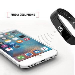 Image 5 - ID115 חכם Wristbands כושר גשש חכם צמיד פדומטר Bluetooth Smartband שינה Waterproof צג שעון יד