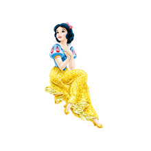 Cartoon Princess Snow White Iron On Patches for Clothing Heat Transfers For T-shirt clothes Diy Ironing Stickers girls decor(China)