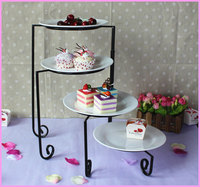 4 Tier Iron Metal Cake/ Cupcake/ Dessert/ Fruit Stand, Food Display Holder Party Accessories Free Shipping Kitchen Decoration