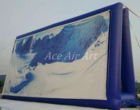 Easy set up Giant inflatable advetising screen/ Inflatable portable billboard balloon for Event