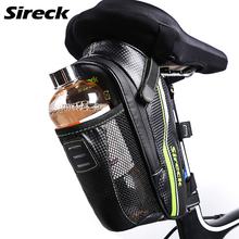 Sireck Bike Bag Waterproof Bicycle Saddle Bag With Water Bottle Pocket Reflective Cycling Rear Seat Tail