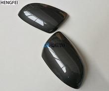 Hengfei Auto accessoires Voor Mazda 2 Mazda 3 Mazda 6 Carbon Fiber Reverse Spiegel Cover Spiegel Behuizing Zonder Hoekverlichting