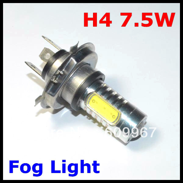 H4  led light 7.5W  Car High Power Xenon White LED Bulb 7.5W Fog Driving Lights Bulb