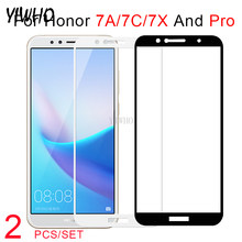 on For Huawei Honor7C Protective Glass 2 pcs set kit Tempered safety Glass 7X 7A 7c 7apro 7cPro Honer 7 and Pro A C X A7 C7 Film(China)