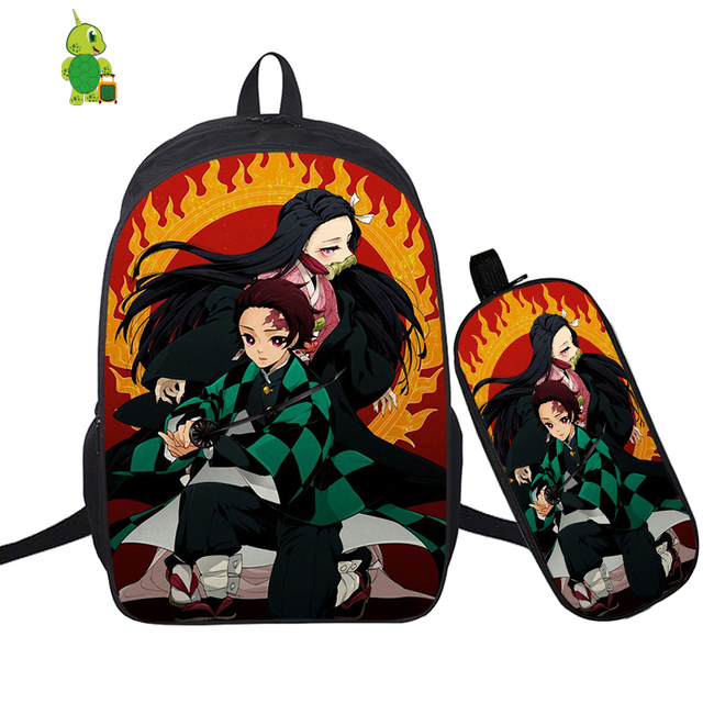 Demon Slayer: Kimetsu No Yaiba Backpack 2 Pcs/Set