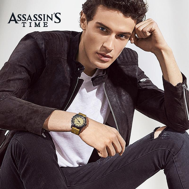 Assissan's Time ապրանքանիշ Relogio Masculino Բնական - Տղամարդկանց ժամացույցներ - Լուսանկար 4