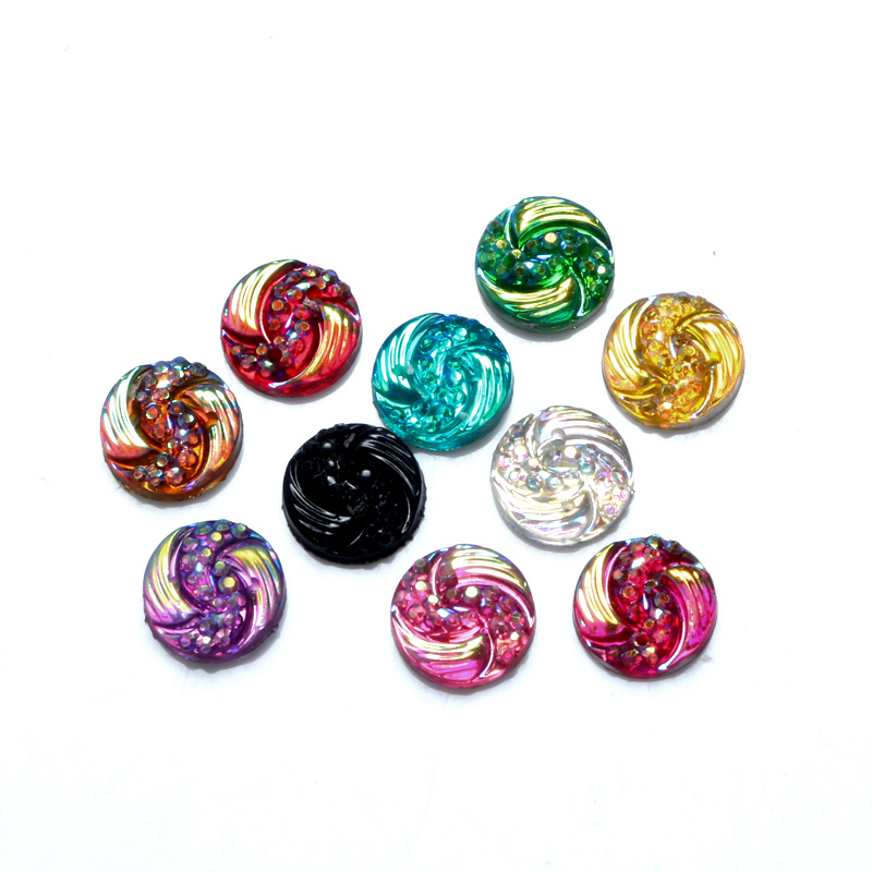 Embellishments Scrapbooking Crafts Diy-Accessories Cabochon Flatback-Decoration Resin-Plated