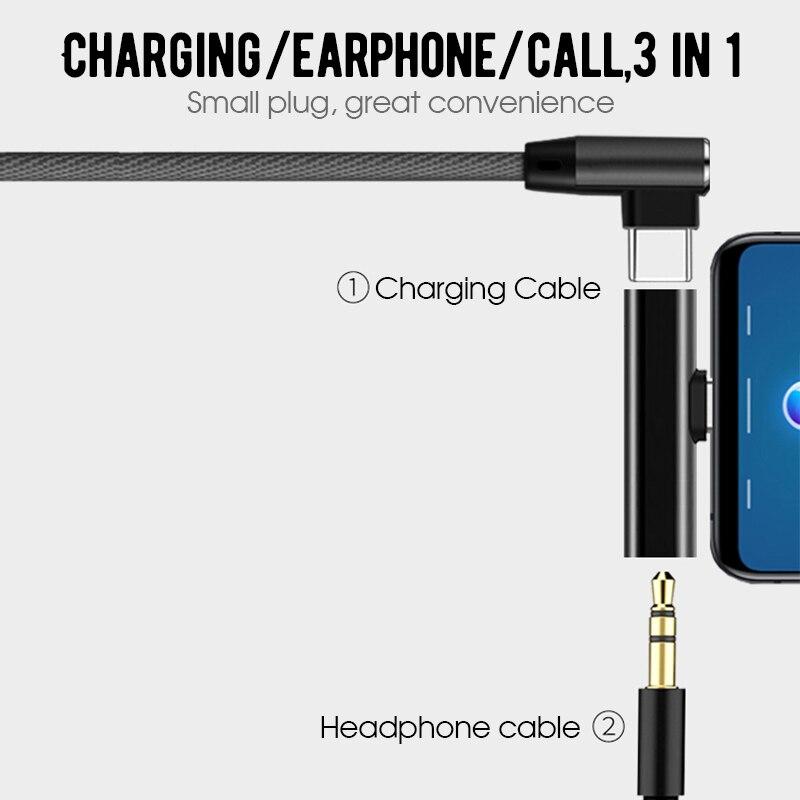 USB Type C-3,5 мм разъем для наушников адаптер для Xiaomi Mi 8 Lite Mi8 Aux аудио кабель зарядное устройство для зарядки USB-C конвертер