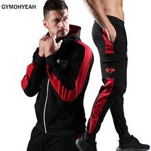 hot deal buy gymohyeah men's sets sporting suits mens fashion tracksuit men trainingspak survetement men's sportwear suit hoodies male 2018
