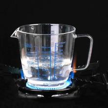 Glass Measuring Cup 250/300ML Heat-resisting Measuring Tool For Baking Lab Liquid Kitchen Utensils & Gadgets кружка liquid lab shot glass erlenmeyer flask