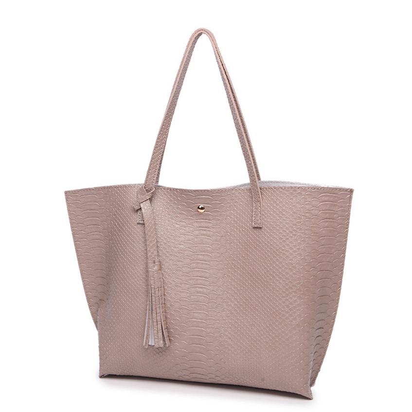 Женская Мода Повседневное бахрома Крокодил шаблон кожа сумка г-жа Новые однотонные Цвет пряжка сумка # F