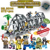 legoINGly Weapons PUBG military army soldiers SWAT Police building blocks Mini bricks Figures DIY toys for children arma awp ww2