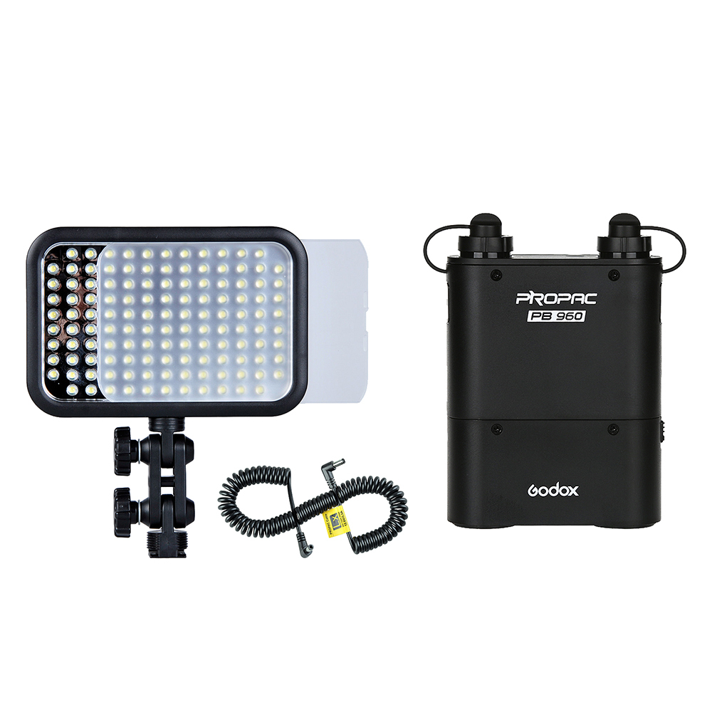 Godox LED 126 Video Light + PB960 Battery Pack + LX Power Cable Kit For Photography godox professional led video light