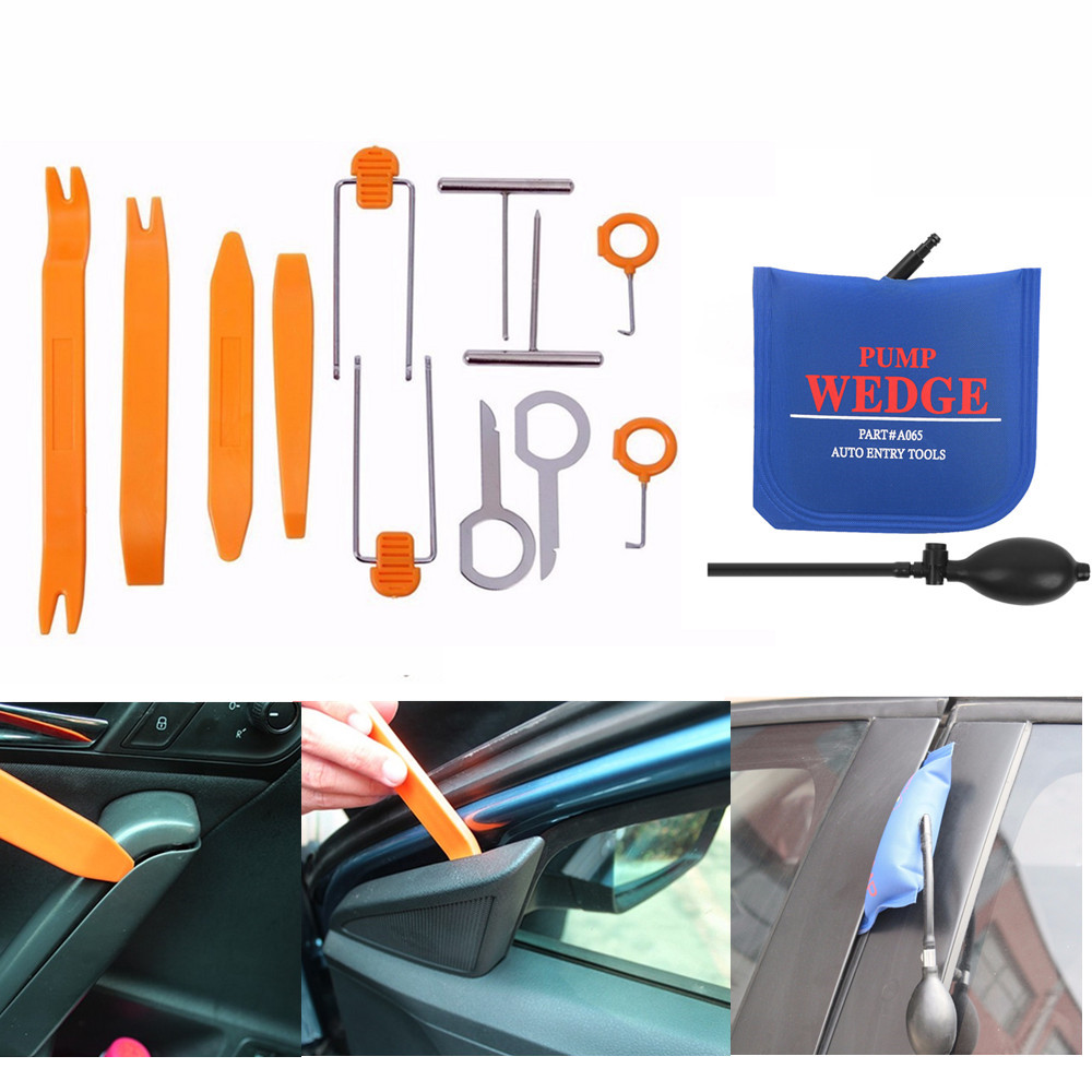 5x Car Plastic Pry Tool Wedge Kit Auto Moulding Cover Board Clip Remover Trim