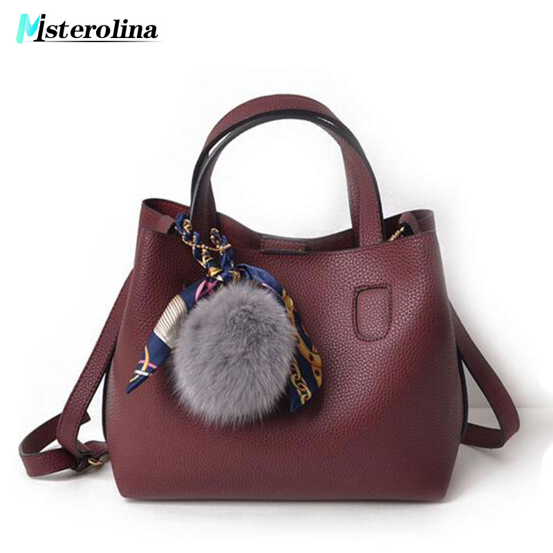 2018 New Women Vintage Bag Women PU Leather Handbags Shoulder Crossbody Handbag Two Women Bags Bolsos Mujer Bolsas Feminina sac assez sac women handbags pu leather bags women handbags crossbody flower printed bag single shoulder bag clutch ladies bolsas