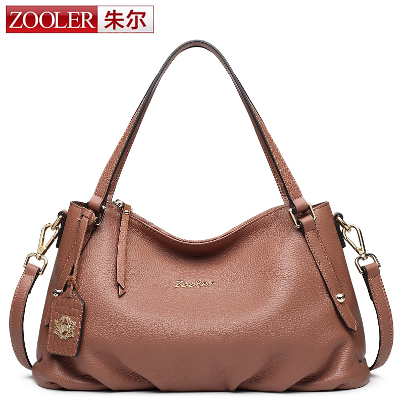 ZOOLER 2017 New Fashion Soft Real Genuine Leather Tassel Women Handbag Lady Shoulder Tote Messenger Bag Purse Satchel Brown Bag naivety new fashion women tassel clutch purse bag pu leather handbag evening party satchel s61222 drop shipping