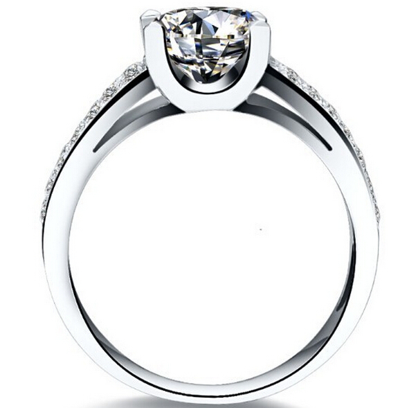 fine silver 2 carat sona Simulated Diamond wedding Rings For Men 18K gold plated Mens Engagement Ring mens jewelry (BB)