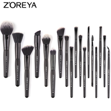 ZOREYA Brand Make Up Brushes 18pcs Professional Makeup Brushes Powder Duo Fiber Foundation Eye Shadow Brush Kit