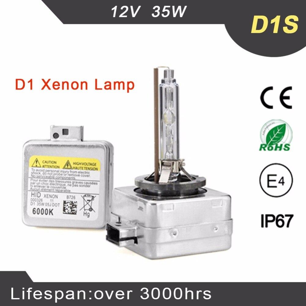 2 unids xenón D1S D1C ocultó el reemplazo del bulbo 4300 K 5000 K 6000 K 8000 K lámpara de xenón para el coche faro 12 V 35 W