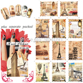 HOTSALE 50Sheet/LOT Water decals Nail Art Stickers postage stamp nail sticker  For Fashion Finger Desgin +Separate Packed