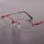 A nova moda half-aro óculos de armação pure titanium óculos de armação mulheres óculos de prescrição óculos 8313